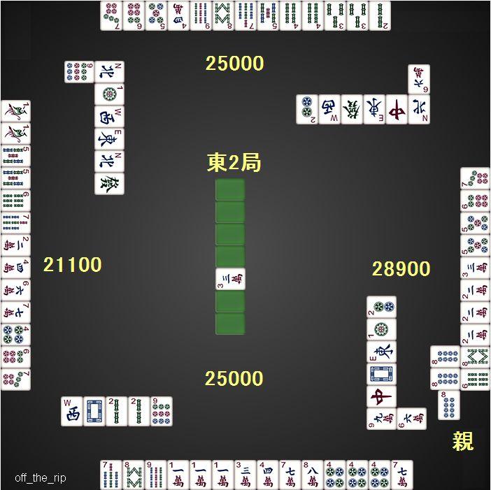 DORA麻雀_0608_100VIP_4ゲーム目_東2