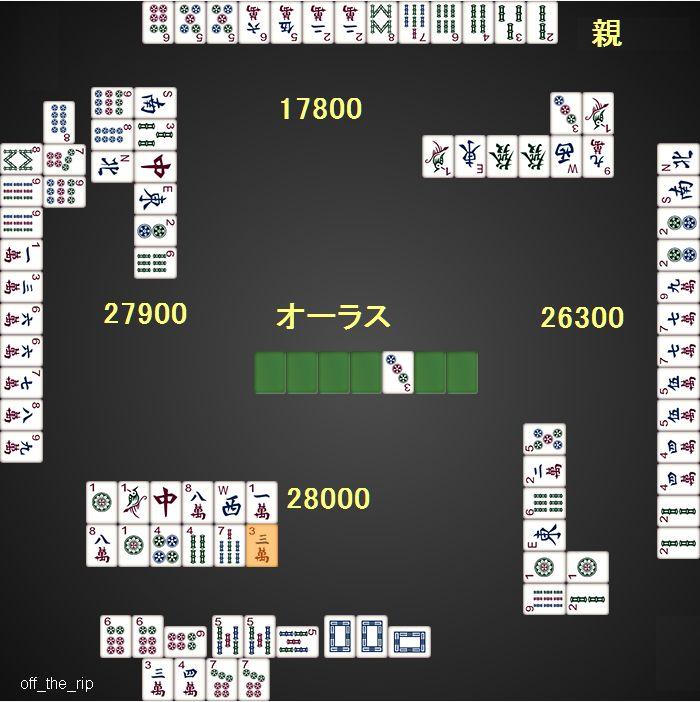DORA麻雀0710_総取トーナメント_東4局