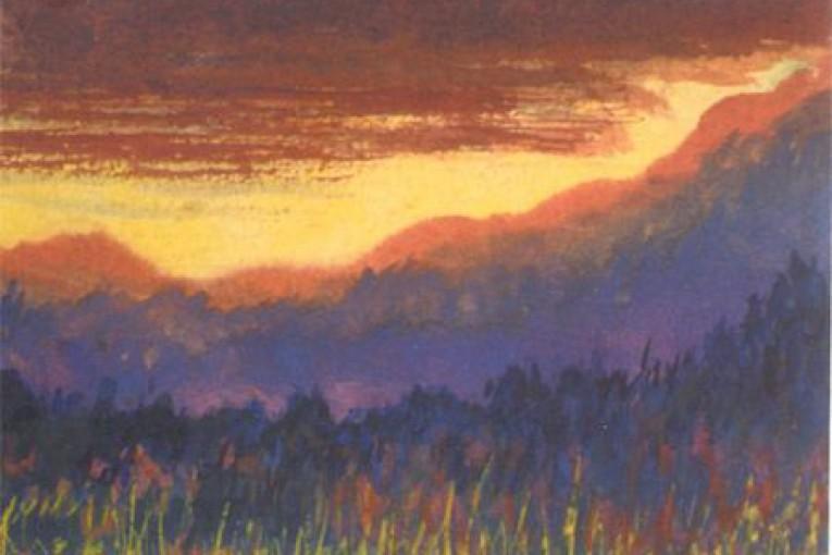 Закат в горах 1943г.