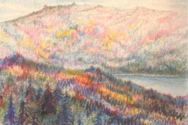 Склоны гор. 1943г