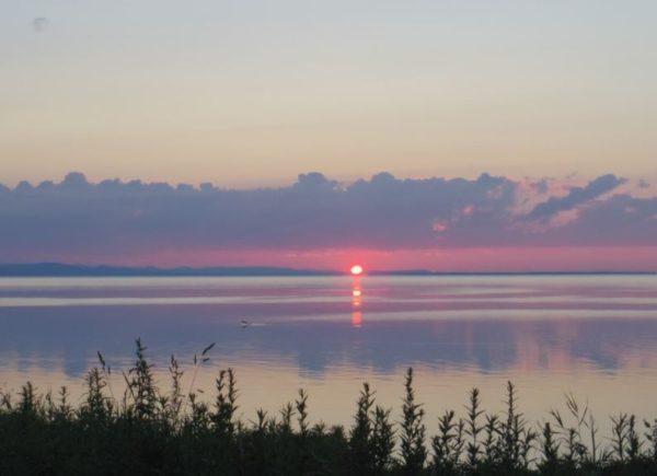 サロマ湖の夕日です