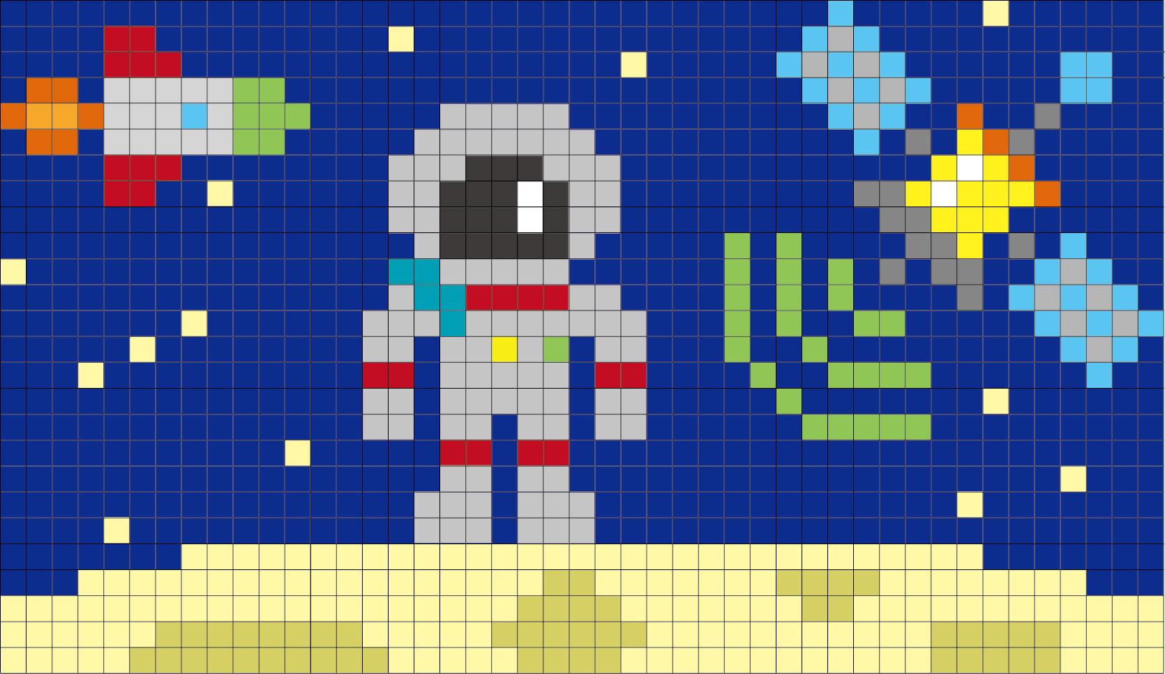 【使える図案第2弾】編み込み柄の編み図・クロスステッチに!うさぎ・うま・文房具・宇宙の無料(フリー)図案33種類