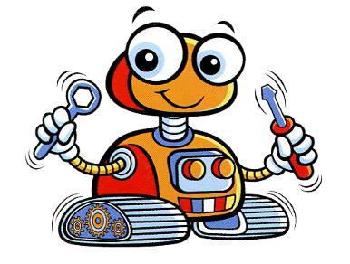 robot animado en dibujo