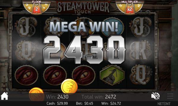 ベラジョンカジノ20151107_Steam Tower_1