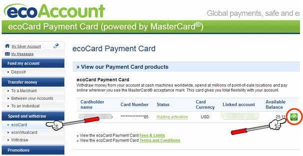 ecopayz_カード到着後