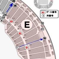 バックスタンドE(ブロック・ゾーン)座席表