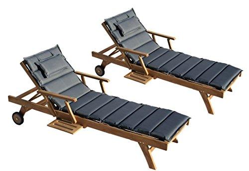 gartenliege holz günstig: gartenliege palm beach auflage rollliege, Garten und Bauen