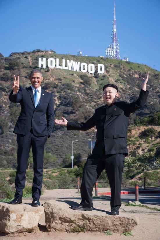 オバマさんと金正恩さんのツーショット2