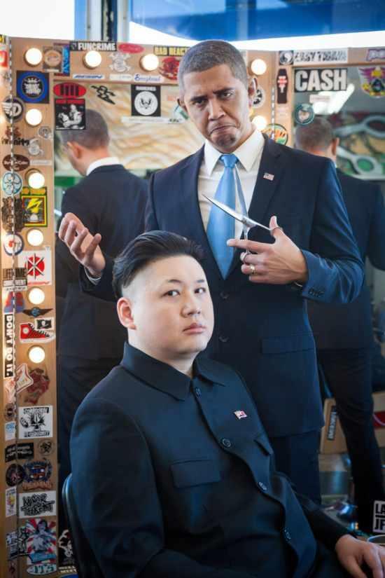 オバマさんと金正恩さんのツーショット4