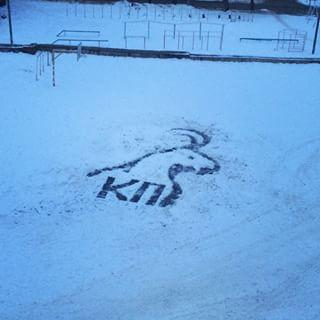 雪かきアート2