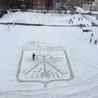 雪かきアート5