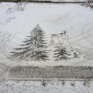 雪かきアート9