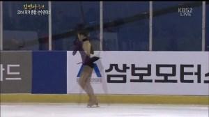 2014 KFSC YUNA FS 3Lz+3T(3Tブレード着氷)