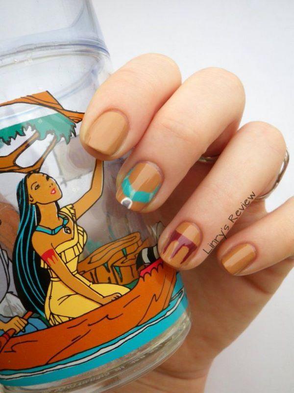 diseño de uñas de pocahontas