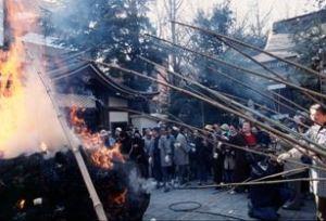 鳥越神社 とんど焼き