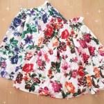 しまむら*4月3日更新!!最新しまパト戦利品!¥980の大花柄鮮やかデザインスカートが可愛いっ!!