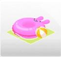 うさぎの浮き輪&ビーチボール