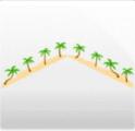 やしの木と砂浜の壁