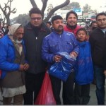 Chha Ekan Chha team distribute jackets to street children