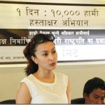 Namrata Shrestha campaigns for elected PM and President