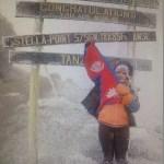 Congratulation Nisha Adhikari, Mount Kilimanjaro