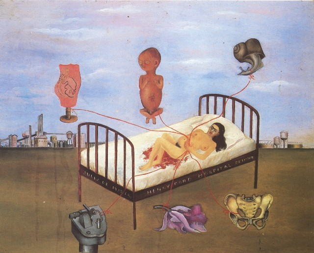 Henry Ford Hospital (The Flying Bed) by Frida Kahlo, 1932