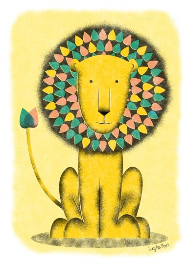 rainbow-lion_lucy-ann-moore_illustration