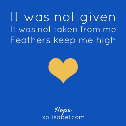 XO, Isabel - Haiku - Hope