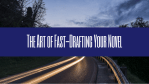 The Art of Fast-Drafting Your Novel