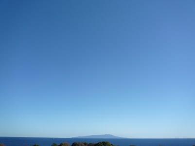 快晴の大島
