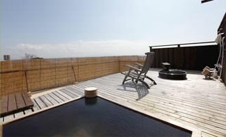 屋上の展望露天風呂