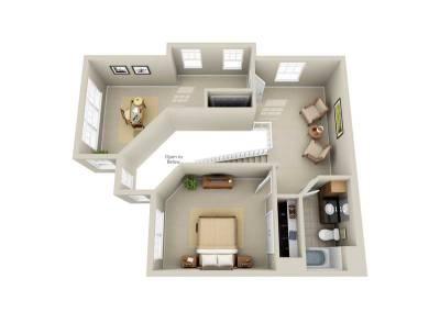 3 Bedroom 2-Story End Unit 2nd-Floor