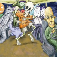 Skeleton on the bus
