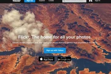 layar utama flickr