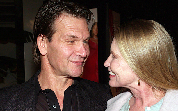"Patrick Swayze with his wife Lisa Niemi during ""Last Holiday"" Los Angeles Premiere - Arrivals at Cinerama Dome in Hollywood, California, United States. (Photo by Michael Tran/FilmMagic)"