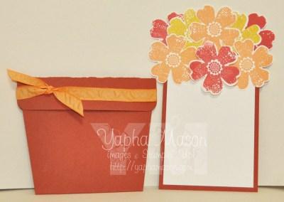 Flowerpot Card open by Yapha