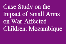 War Affected Children Mozambique