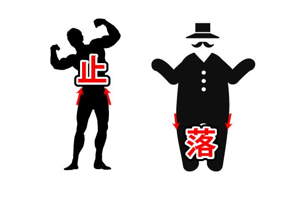 痩せた男と太った男