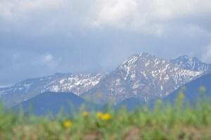 富士見町から望む八ヶ岳(左から横岳、阿弥陀岳、赤岳)