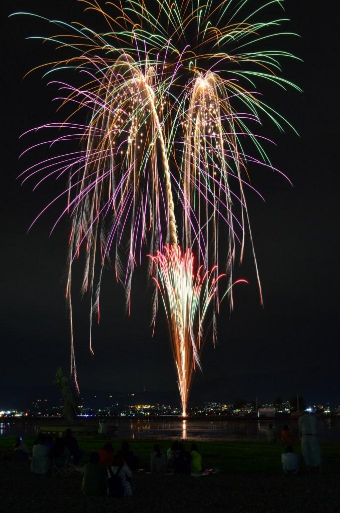 827諏訪湖花火