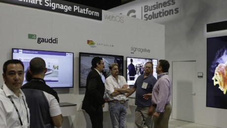 """Expanded solution partners for the commercial version of LG Electronics' popular webOS smart TV platform - """"webOS for Signage,"""" implemented in even more LG commercial displays this year - offers convenient new options for business owners deploying smart digital signage solutions. (PRNewsFoto/LG Electronics USA)"""