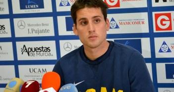 Juanto, en su presentación como jugador del UCAM / Archivo