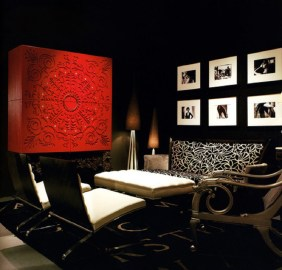 Black-And-White-Living-Room-With-Red-Accents