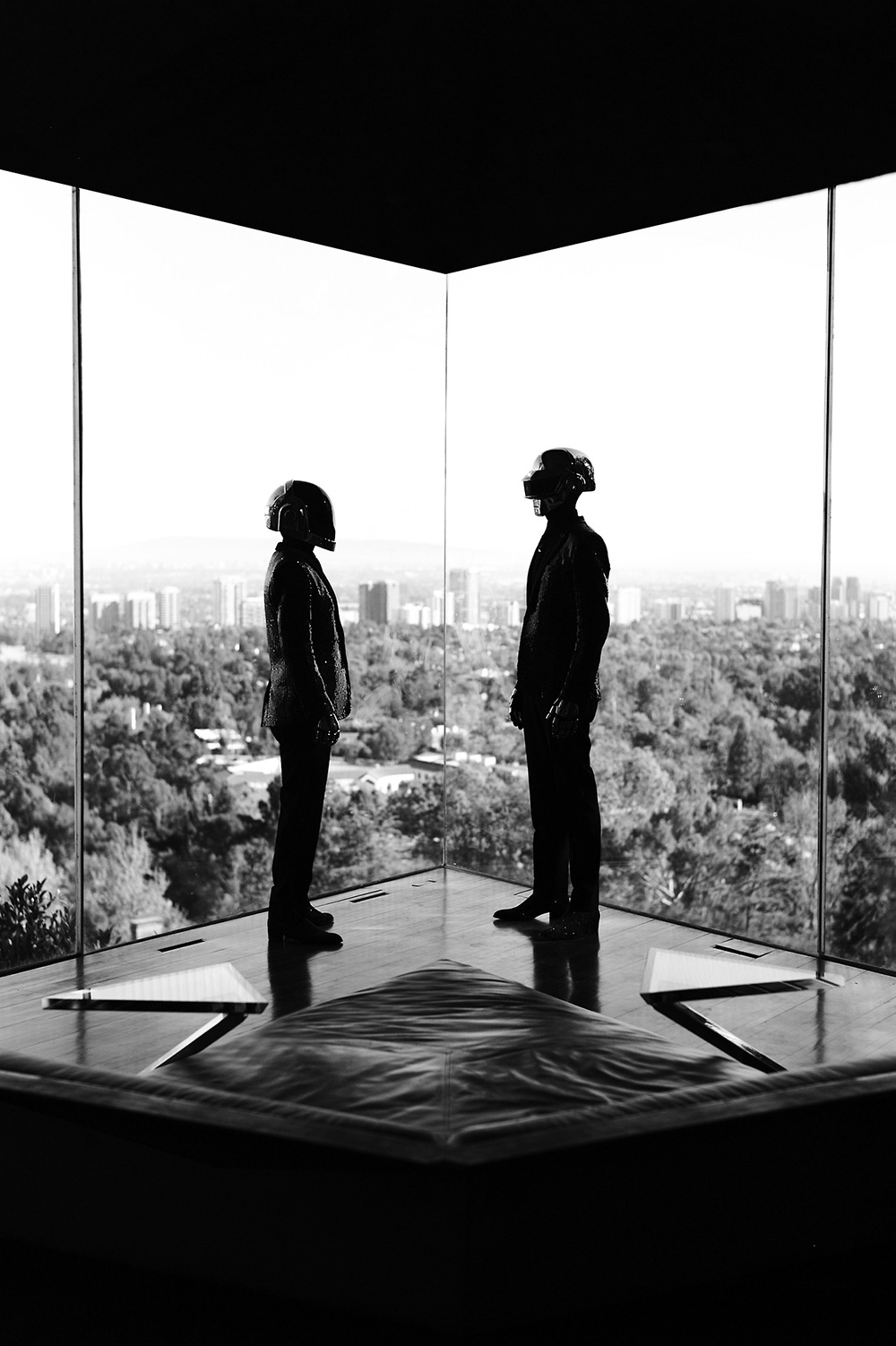 Daft Punk at Lautner&#8217;s Sheats Goldstein Residence in LA.