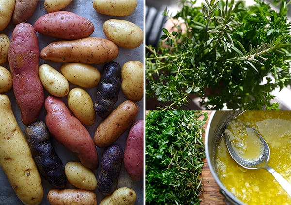 Roasted-fingerlings-potatoes-with-garlic-herbs-&almonds~ Yes, more ...