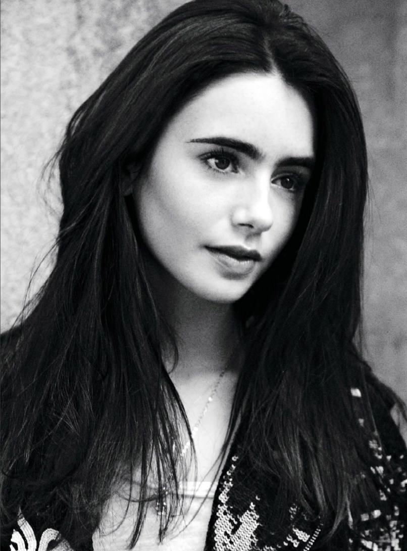 lily collins wallpaper black and white | babangrichie