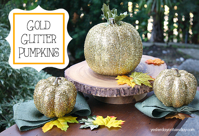 How to make Gold Glitter Pumpkins