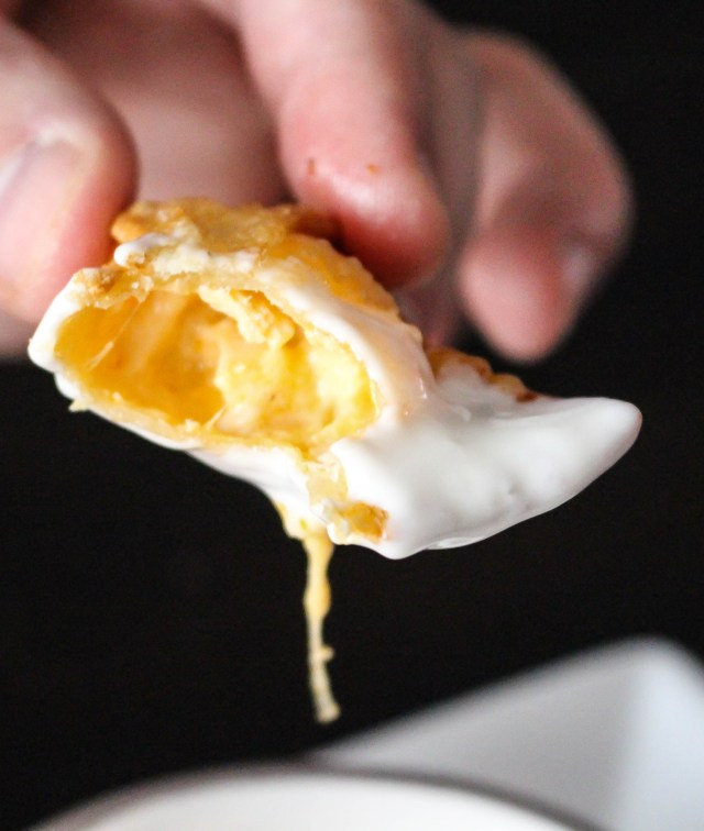 Buffalo Chicken Wontons | Yes to Yolks