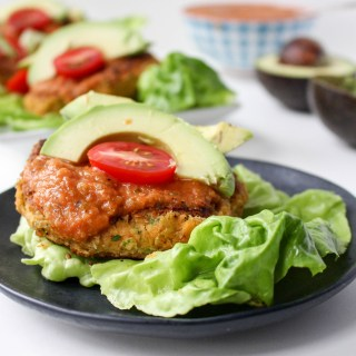 Taco-Spiced Bean Burgers with Smoky Roasted Tomato Salsa   Yes to Yolks