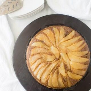 Two Years: Caramelized Cardamom Pear Upside-Down Cake   yestoyolks.com